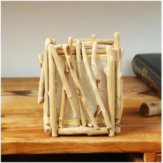 独步居 简约实木质中式小灯笼摆件室内店铺酒吧创意饰品手工艺品